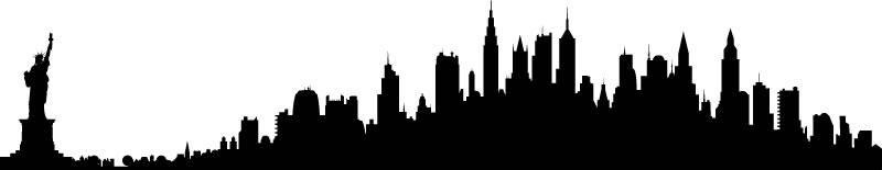 800x155 New York City Skyline Clip Art