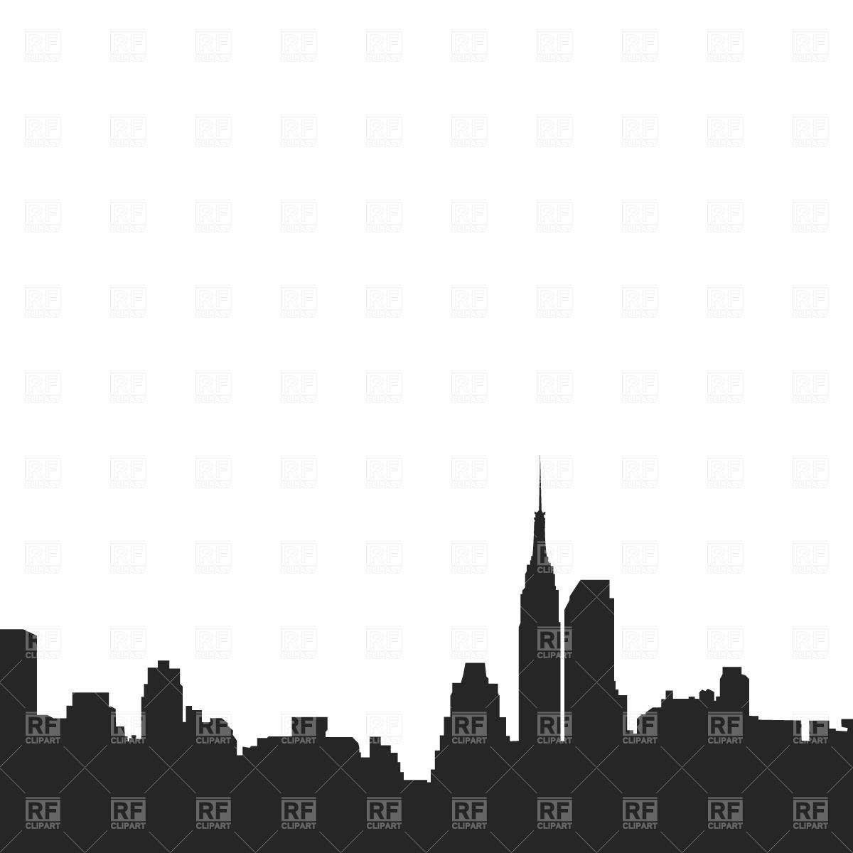 1200x1200 New York City Skyline Royalty Free Vector Clip Art Image