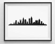 236x186 Atlanta Skyline Silhouette