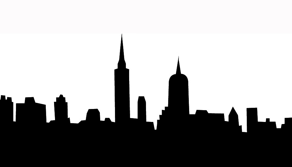 988x567 Skyline Clipart Black And White