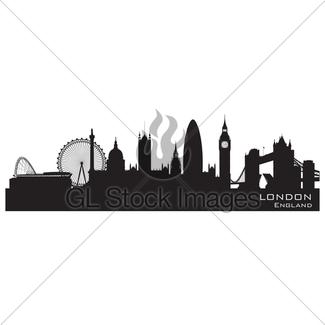 325x325 York England City Skyline Detailed Vector Silhouette Gl Stock Images