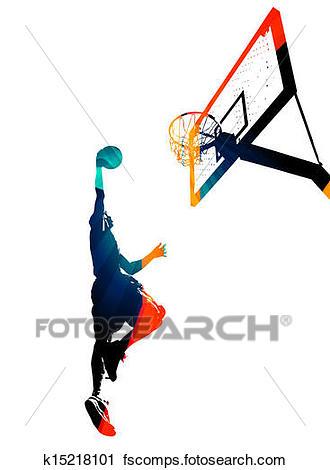 330x470 Clipart Of Funky Basketball Slam Dunk K15218101