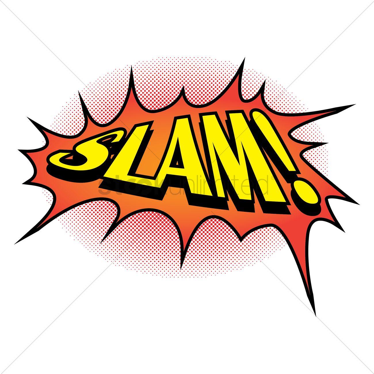 1300x1300 Comic Effect Slam Vector Image