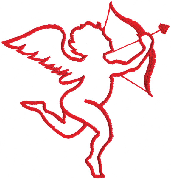 574x600 Cupid Outline Embroidery Design From Grand Slam Designs Grand
