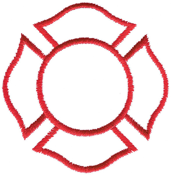 587x600 Fire Maltese Cross Clip Art