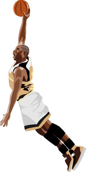 300x595 Free Basketball Player Slam Dunk Clip Art