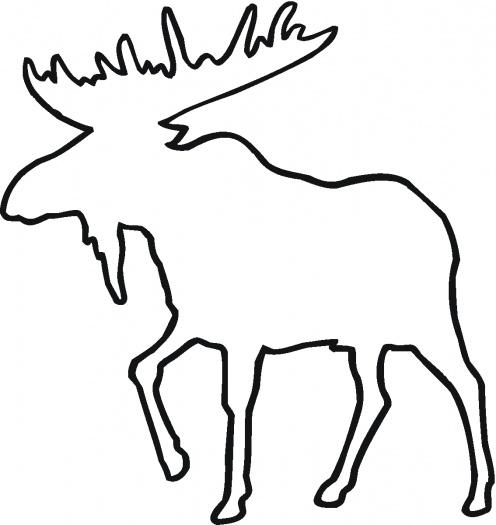 496x525 Trendy Design Ideas Moose Outline Deer Free Saw Patterns Images