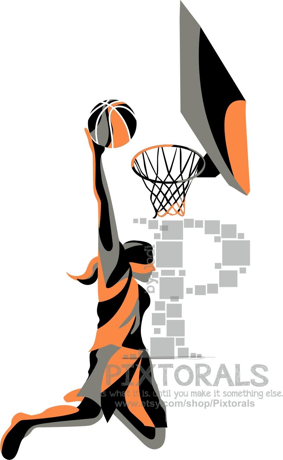 900x1464 Basketball Female Slam Dunk Eps Jpeg Png Basketball