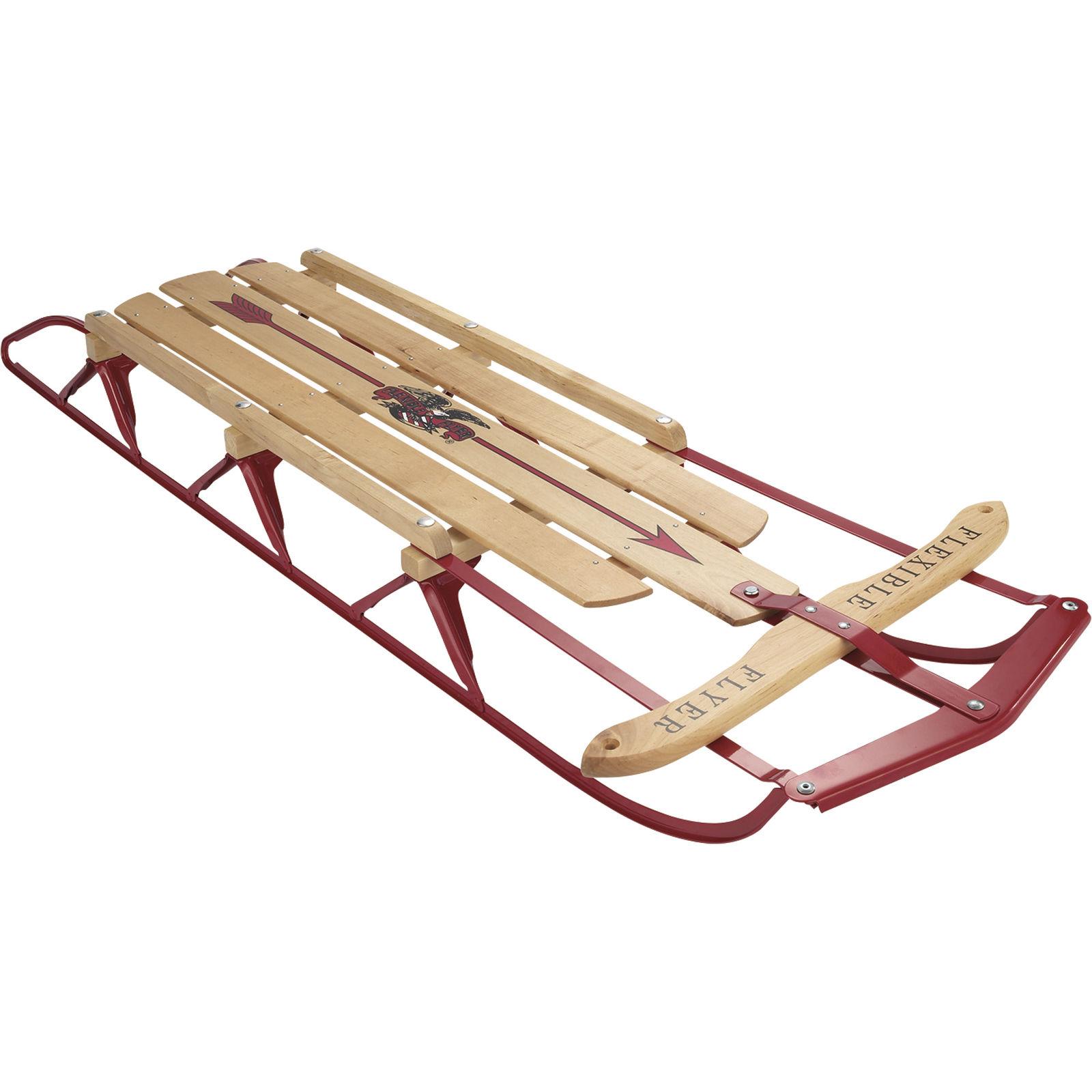 1600x1600 Paricon Flexible Flyer Steel Runner 54 Inch Sled Wood Ebay
