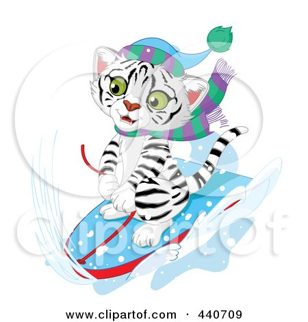 450x470 Royalty Free (Rf) Clip Art Illustration Of A Cute White Tiger
