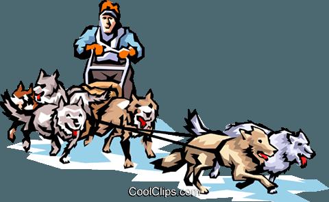 480x295 Sled Dog Clipart Dog Sledding Royalty Free Vector Clip Art