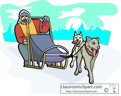 500x398 Czeshop Images Dog Sled Clipart