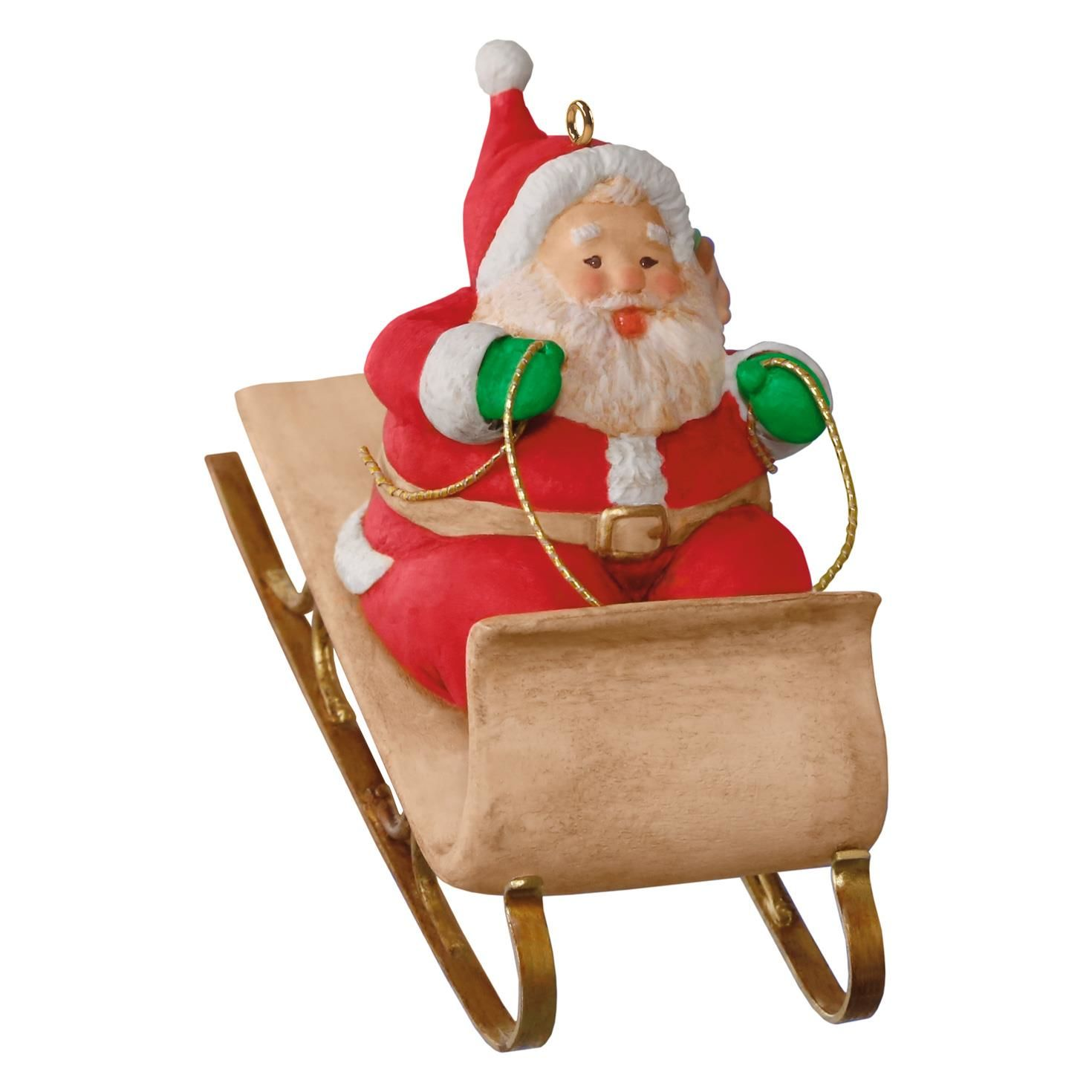 1470x1470 Mary Hamilton's Sledding Santa Ornament
