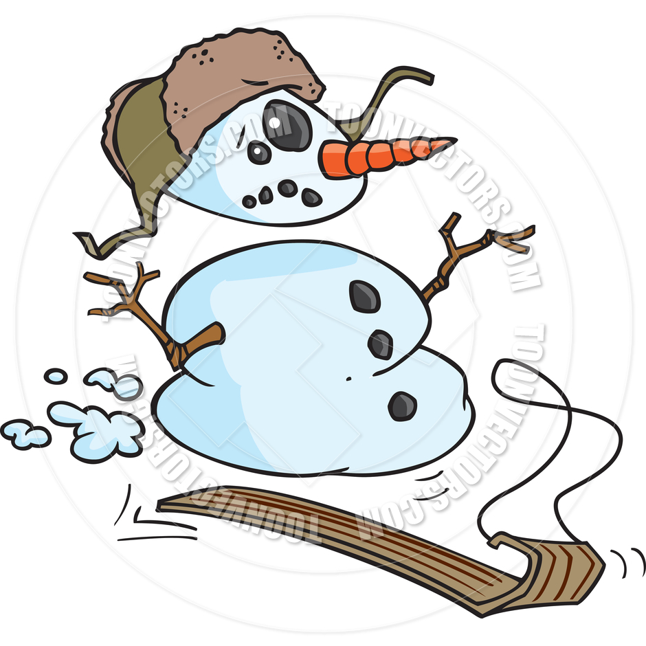 940x940 Sledding Snowman Clipart