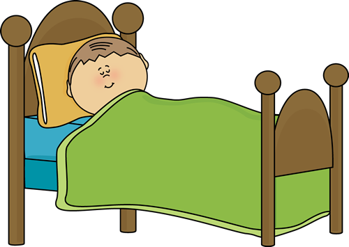 500x355 Clipart Of Child's Bed Child Sleeping Clip Art Image