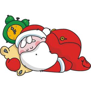 300x300 Home Sleeping Santa Clipart