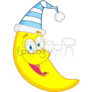 300x300 Royalty Free Moon Ready For Sleep 381956 Vector Clip Art Image