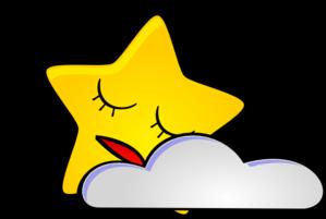 299x201 Sleeping Star Clip Art