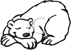 300x210 Sleeping Bear Clipart