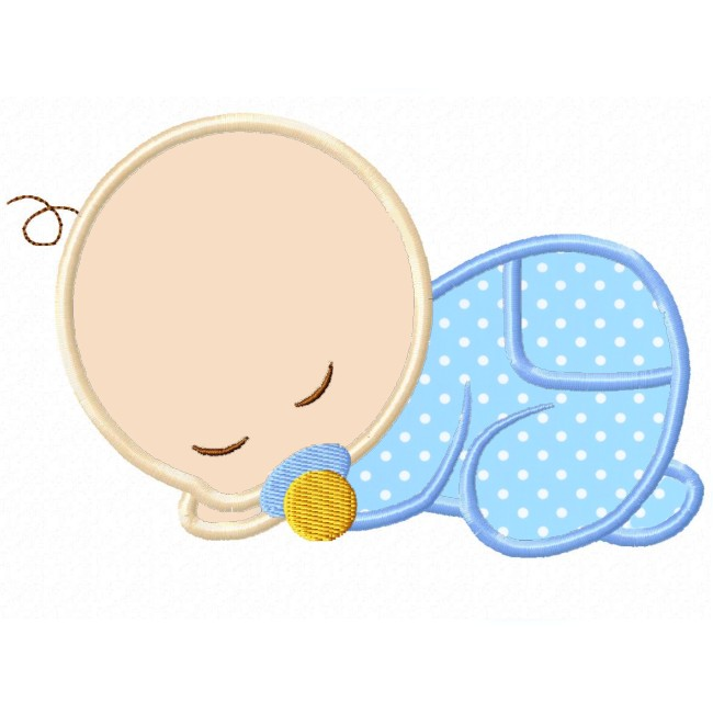 650x650 Sleeping Baby Applique Clip Art Sleeping Babies