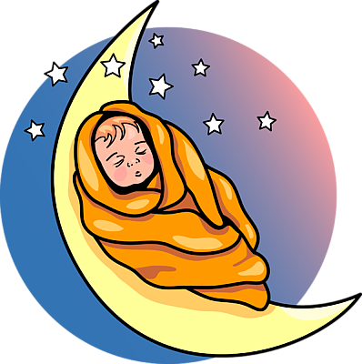 398x400 Sleeping Baby Clip Art
