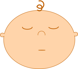 298x264 Sleeping Baby Clip Art