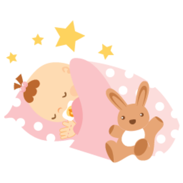600x600 Sleeping Baby Clipart