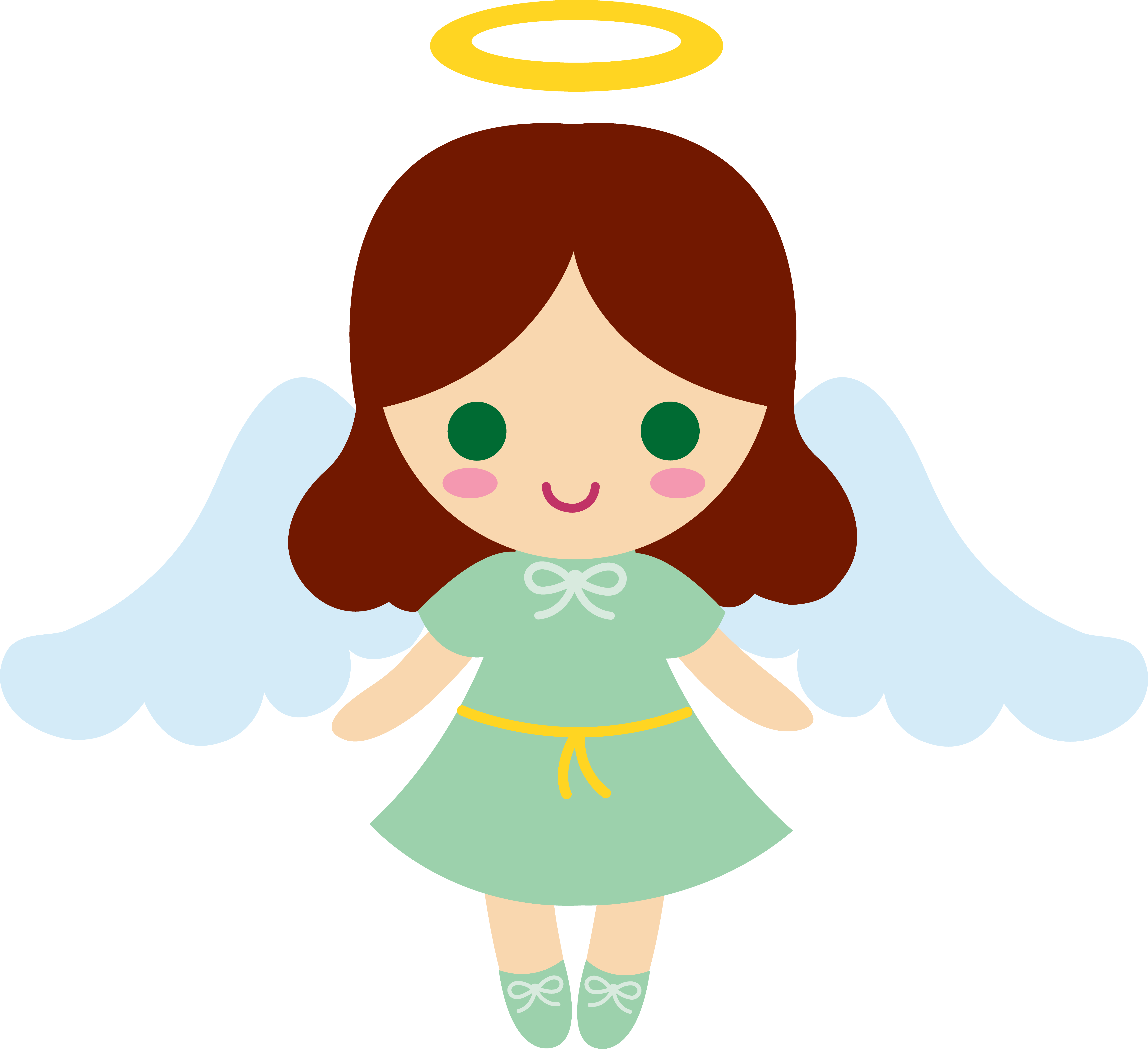 5999x5483 Angel Baby Clipart Free