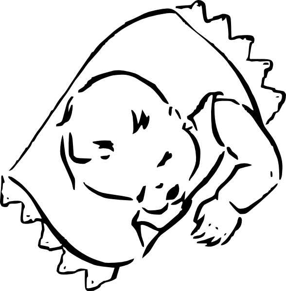 588x599 Sleeping Baby Clip Art Free Vector In Open Office Drawing Svg