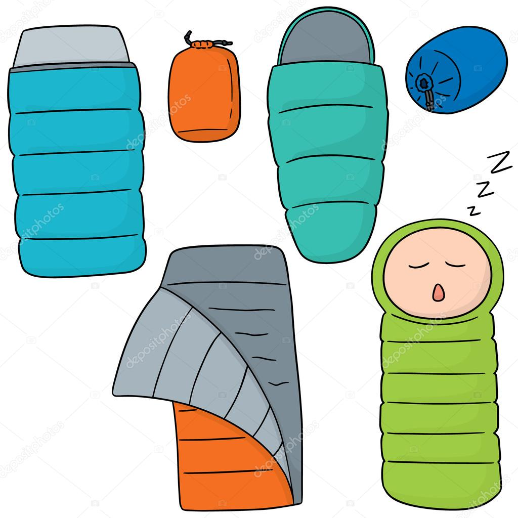 1024x1024 Vector Set Of Sleeping Bag Stock Vector Ourlifelooklikeballoon