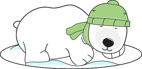 550x268 Polar Bear Sleeping In The Snow Clip Art