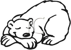 300x210 Polar Bear Clipart Sleeping Bear