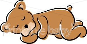 300x153 Sleeping Brown Bear Clipart Teddy Bear Baby Clipart