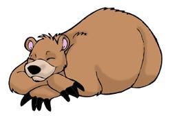 250x168 Sleeping Clipart Bear