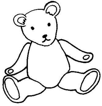333x346 Teddy Bear Black And White Sleeping Bear Clipart Free Download