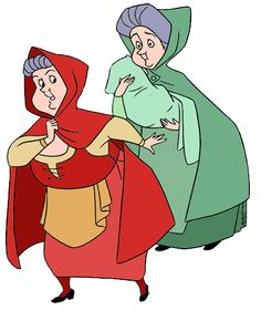236x280 Production Cel Of Flora And Merryweather From Sleeping Beauty