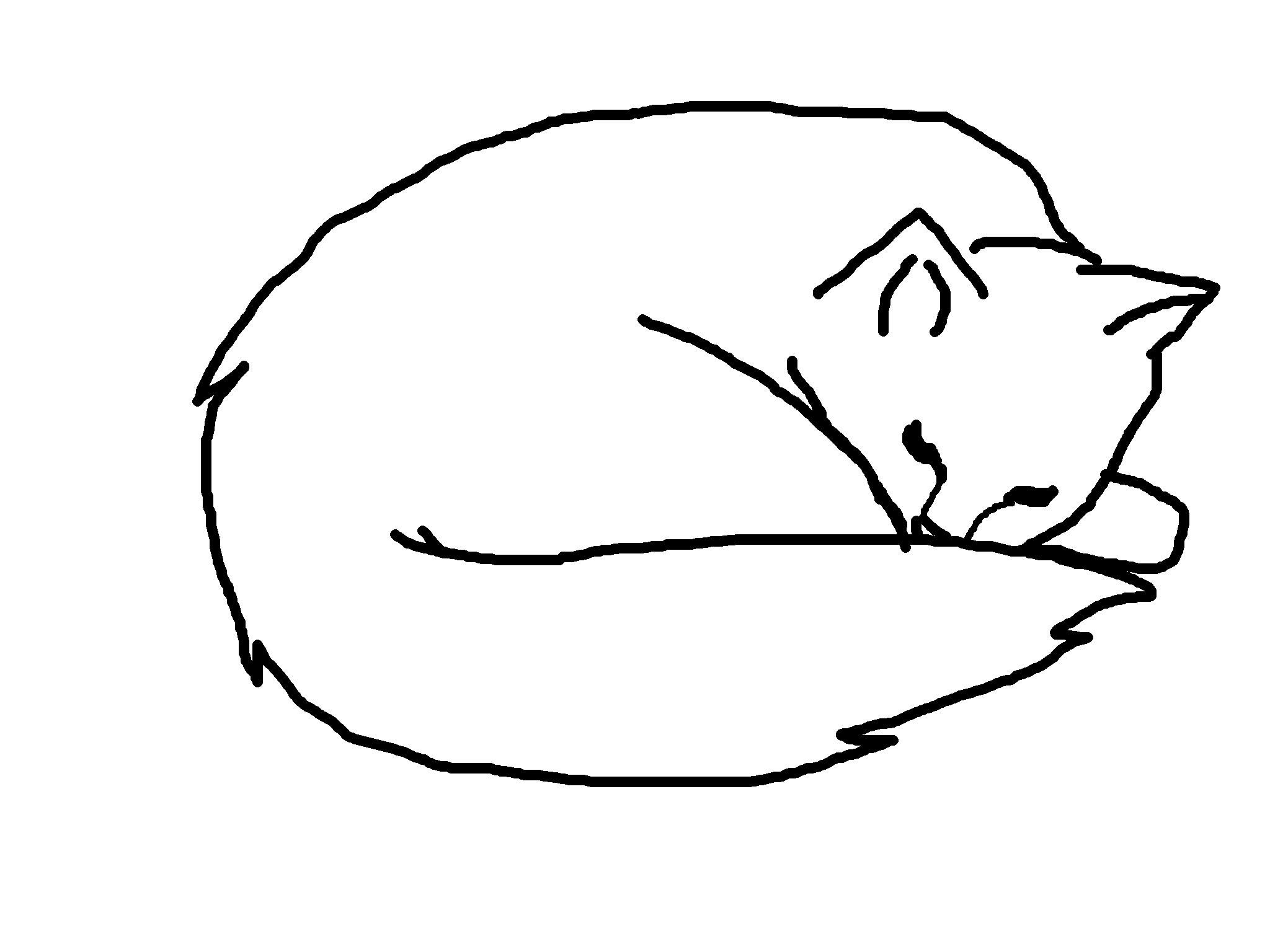 2048x1536 Black Cat Clipart Sleepy Cat