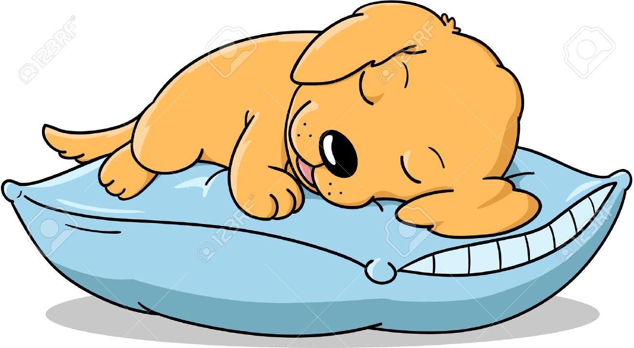 1300x713 Pillow Clipart Sleepy Dog