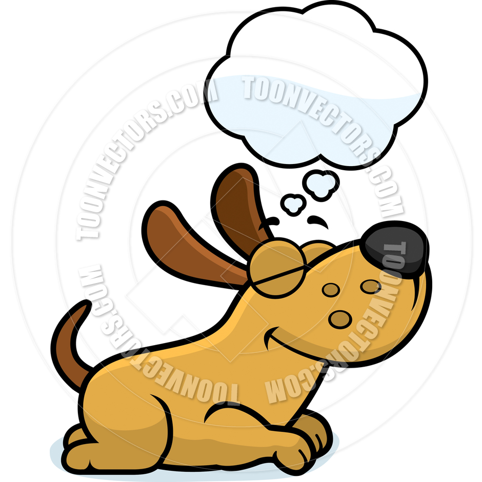 940x940 Cartoon Puppy Dog Dreaming By Cory Thoman Toon Vectors Eps