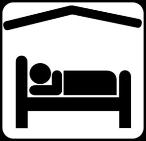 298x288 Hotel Motel Sleeping Accomodation Clip Art