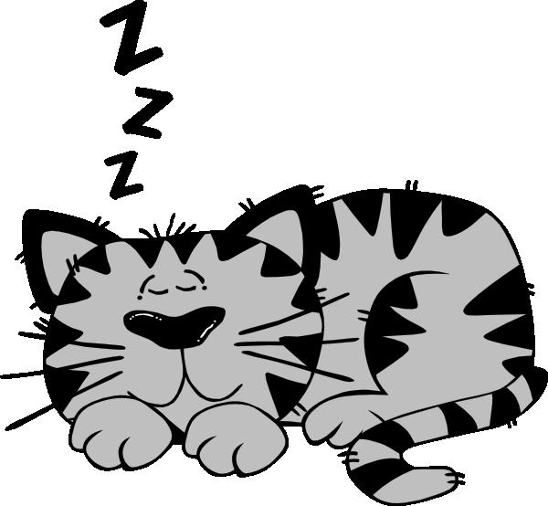 600x554 Sleeping Cat Clip Art