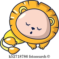 194x194 Sleeping Lion Clipart Vector Graphics. 118 Sleeping Lion Eps Clip