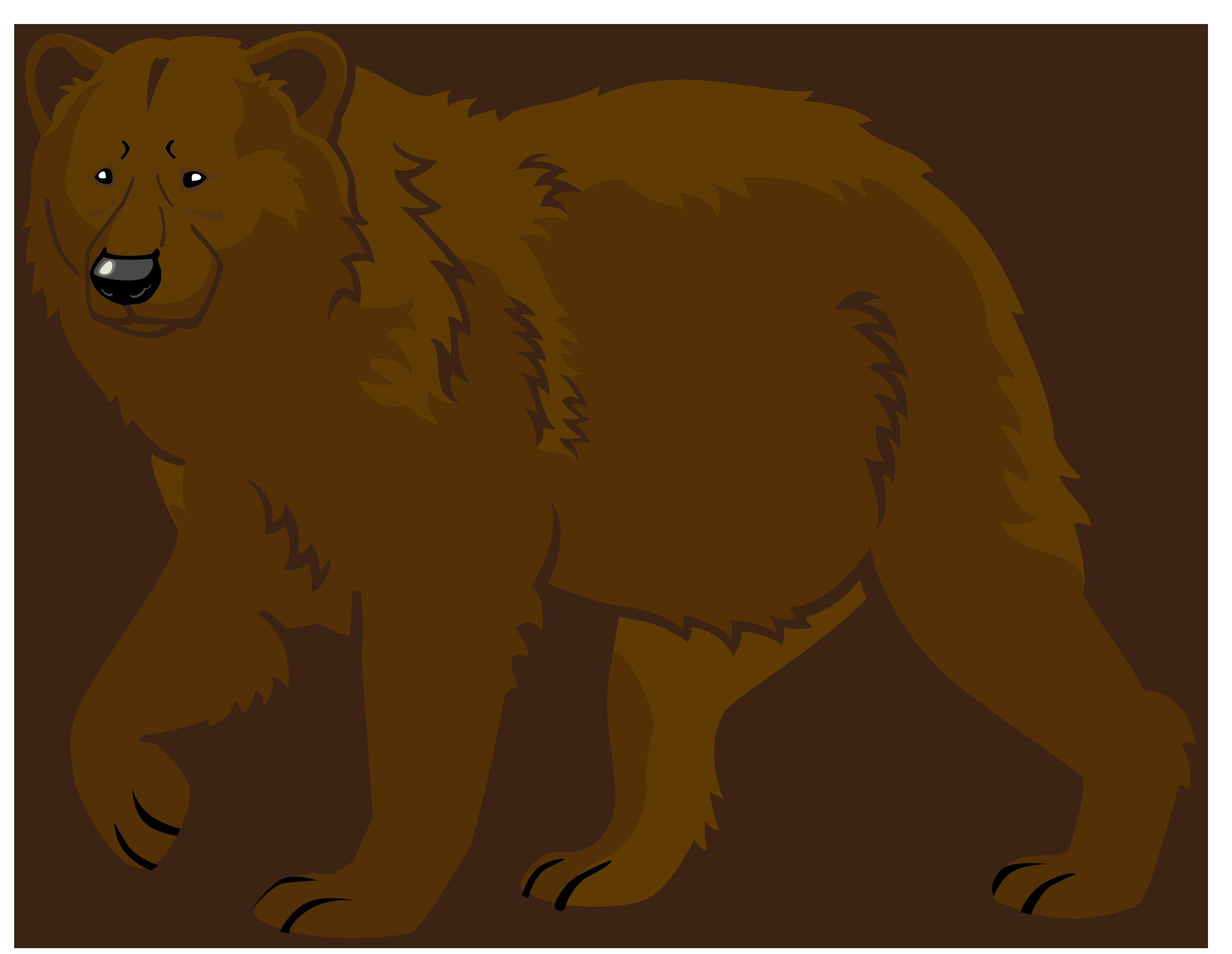 4000x3097 Brown Bear Clipart
