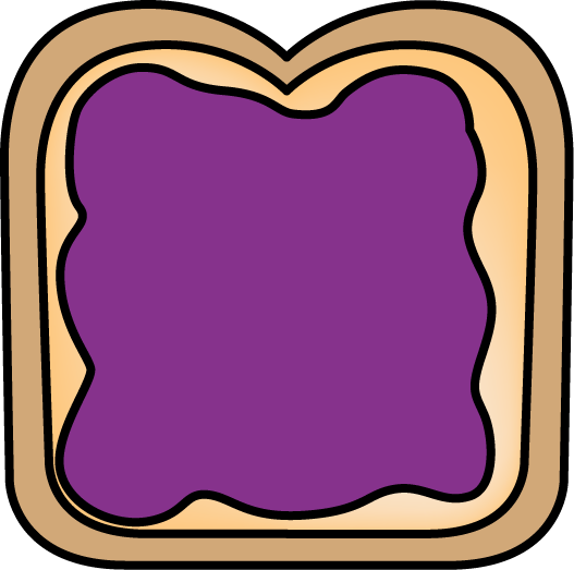 527x523 Bread With Jelly Clip Art