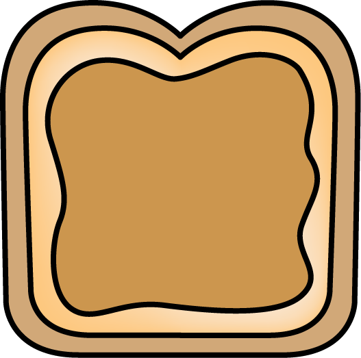 527x523 Bread With Peanut Butter Clip Art