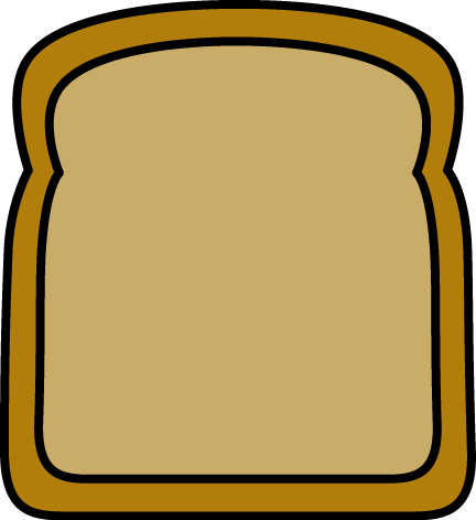 432x471 Big Slice Of Bread Clip Art