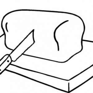 300x300 Bread Slice Outline Coloring Pages Best Place To Color