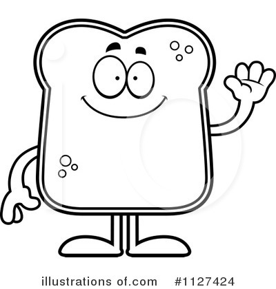 400x420 Bread Clipart Coloring Page