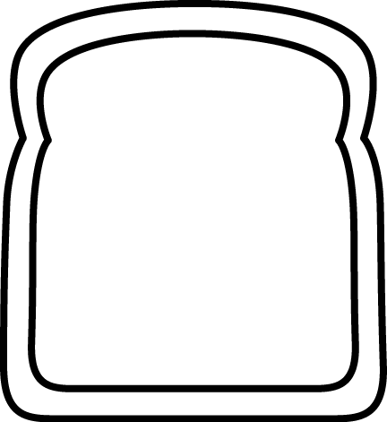 432x471 Bread Clipart Outline