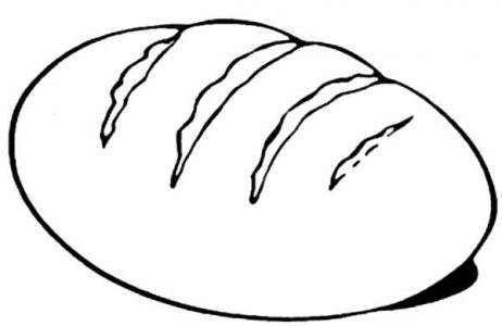 462x300 Coloring Pages Surprising Coloring Pages Bread Loaf Of Slice